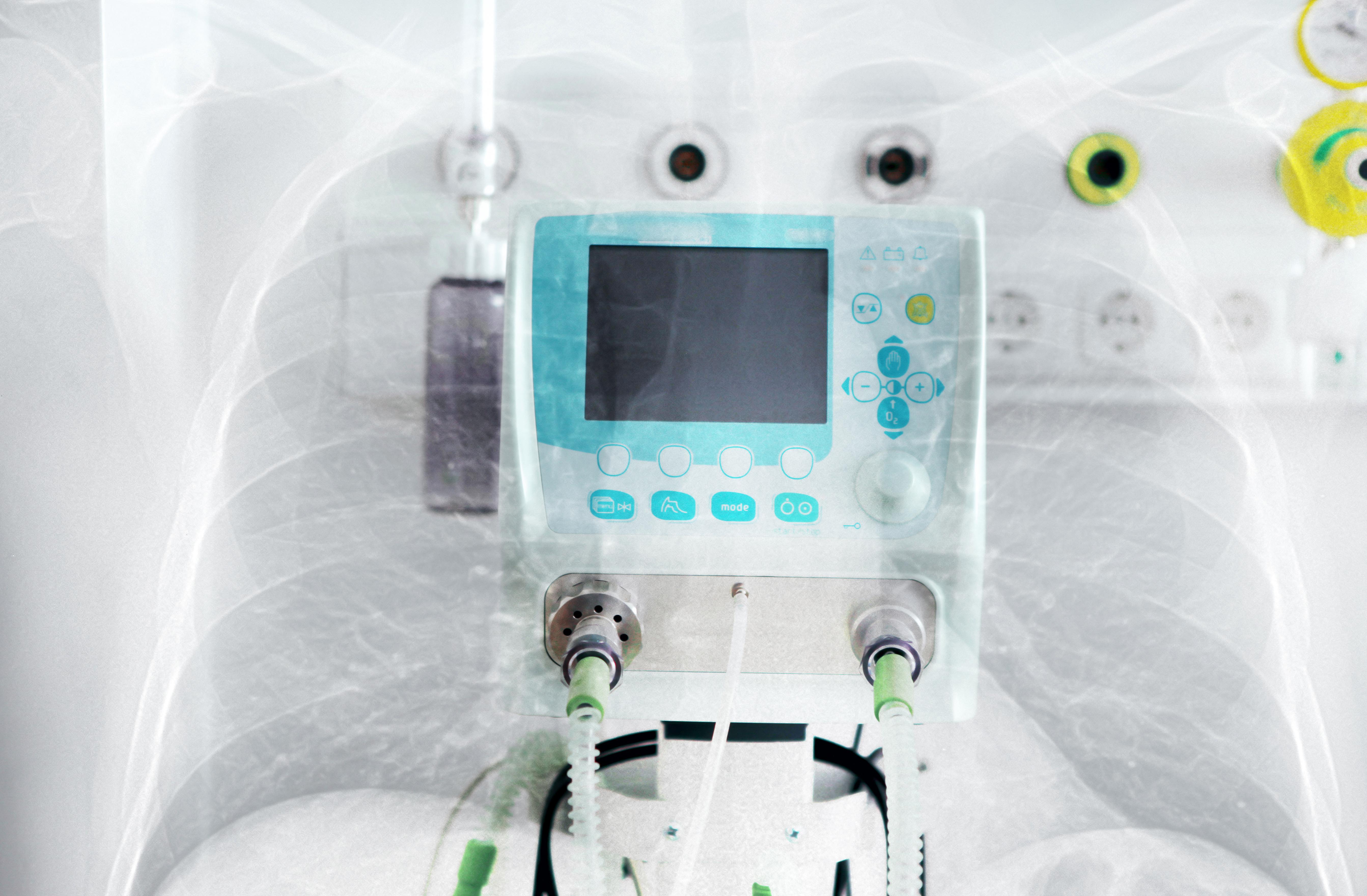 Ventilator machine with lung