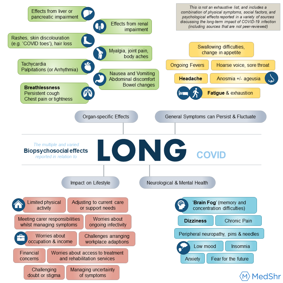 The importance of a holistic approach when considering the biological, psychological and social effects of Long COVID